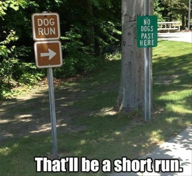 funny park signs