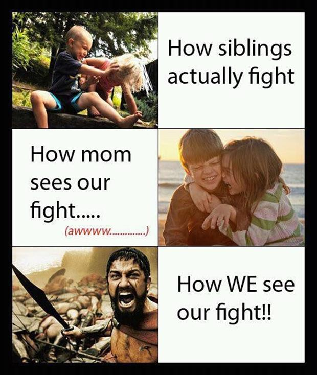 funny pictures, fighting with your kids