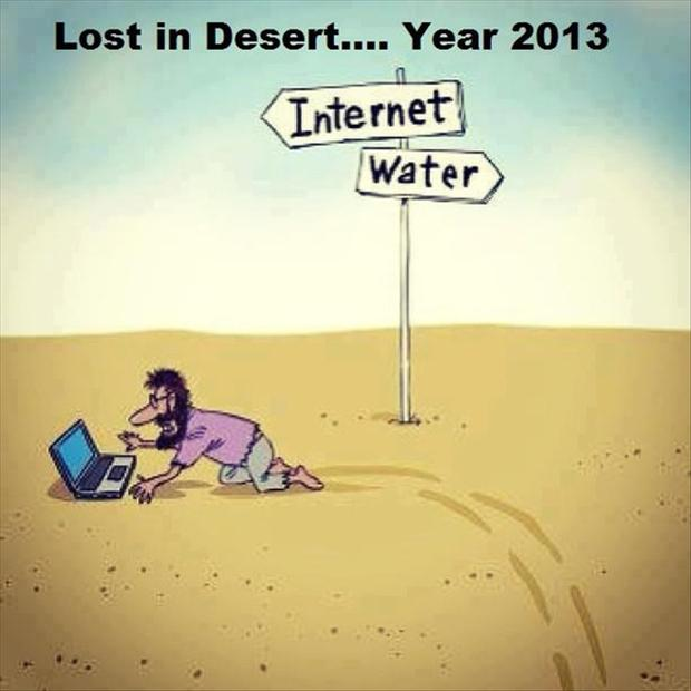 funny pictures, lost in the dessert