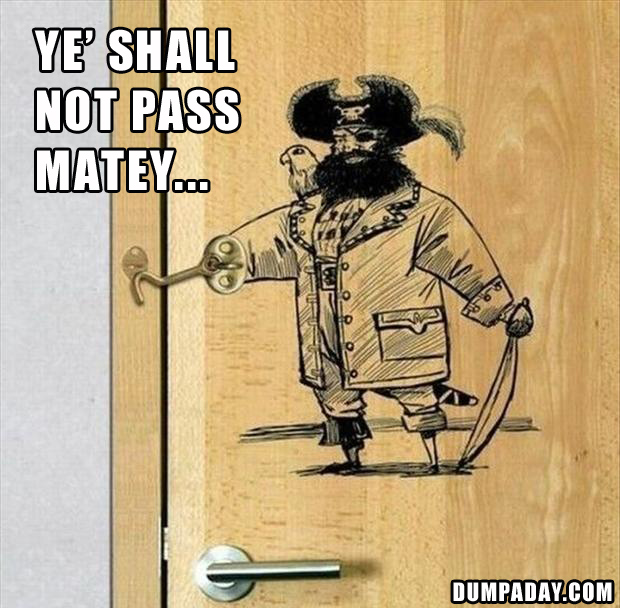 funny pirate, you shall not pass