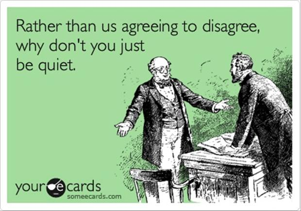 funny quotes, agree to disagree