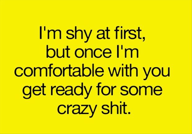 funny quotes, shy people