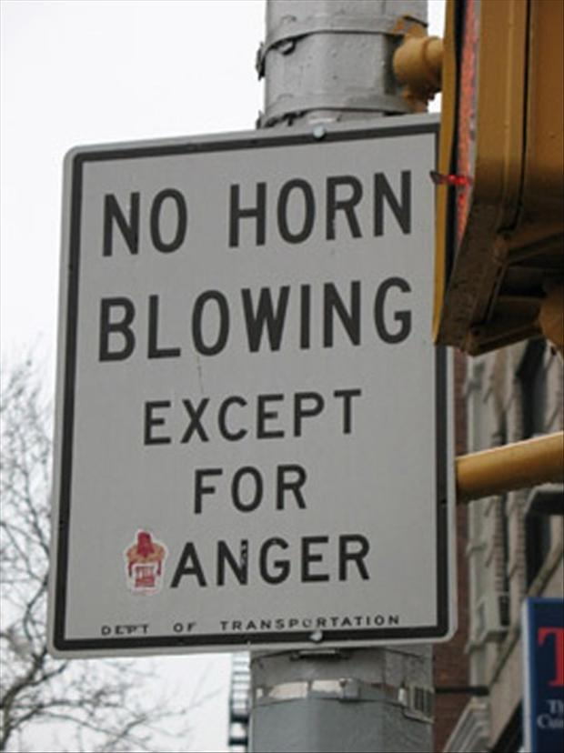 funny signs, now horn blowing