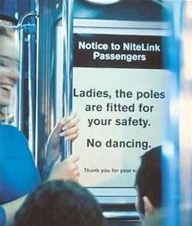 funny signs, pole dancing