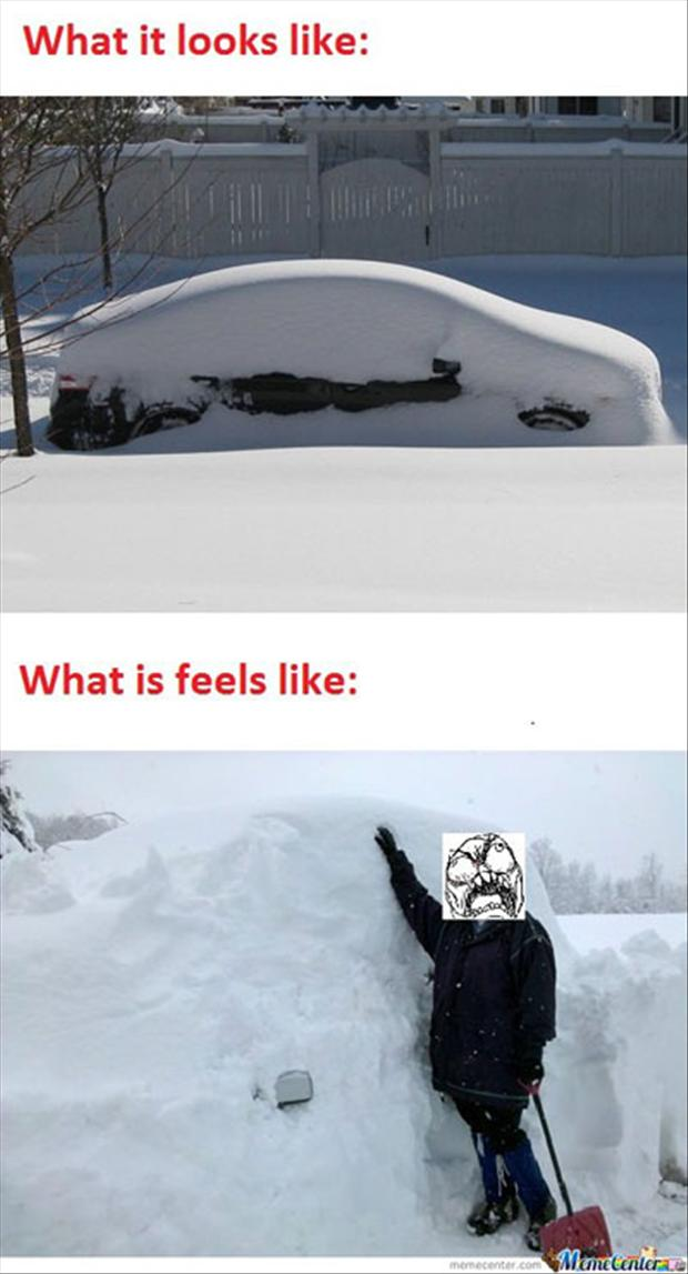 funny snow pictures, what it looks like, what it feels like