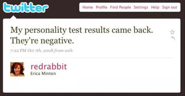 funny twitter quotes, personality tests