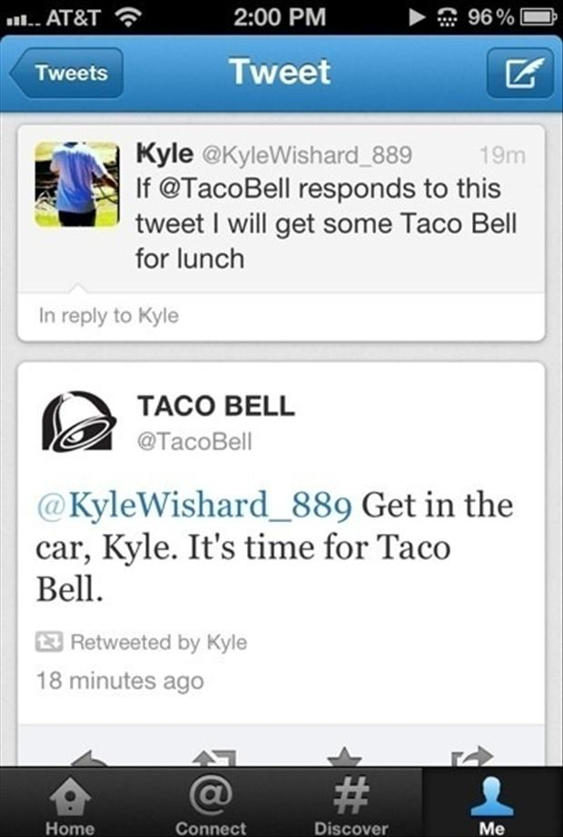 funny twitter quotes, taco bell