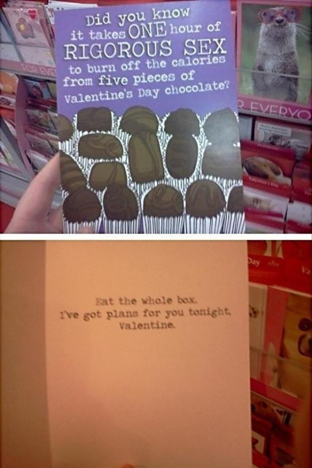funny valentines day cards, plans for the night, chocolate