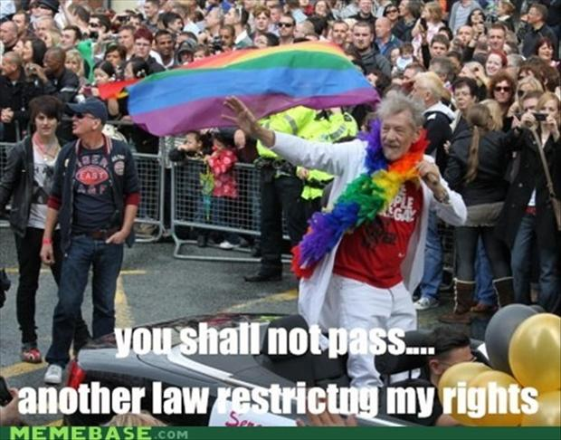 gay rights, you shall not pass