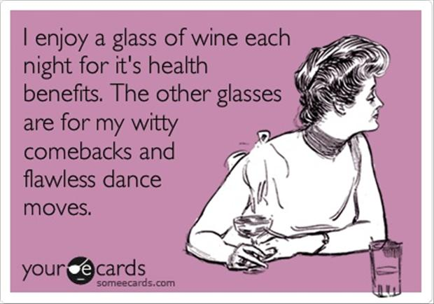 glass of wine, funny quotes
