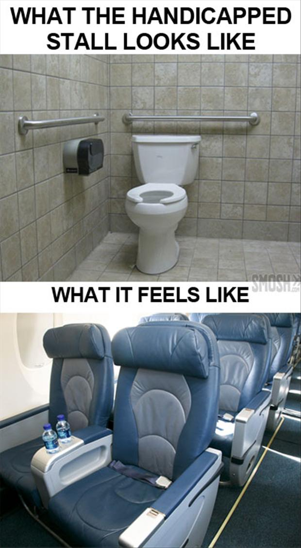handicap stall, what it looks like, what it feels like