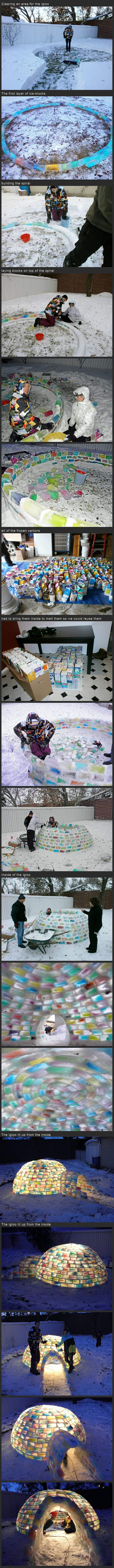 how to build an igloo,
