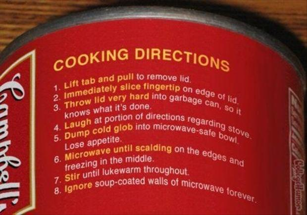 how to cook soup, funny directions