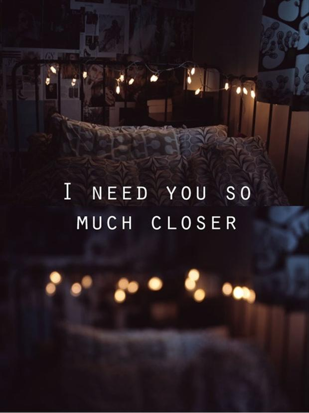 i need you, love quote...