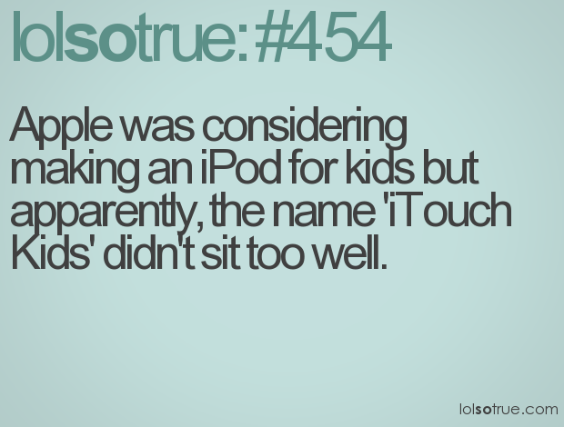 iPod, iTouch, funny quotes