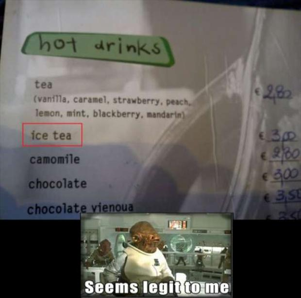 ice tea, seems legit