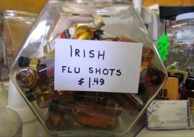 irish flu shot, funny pictures