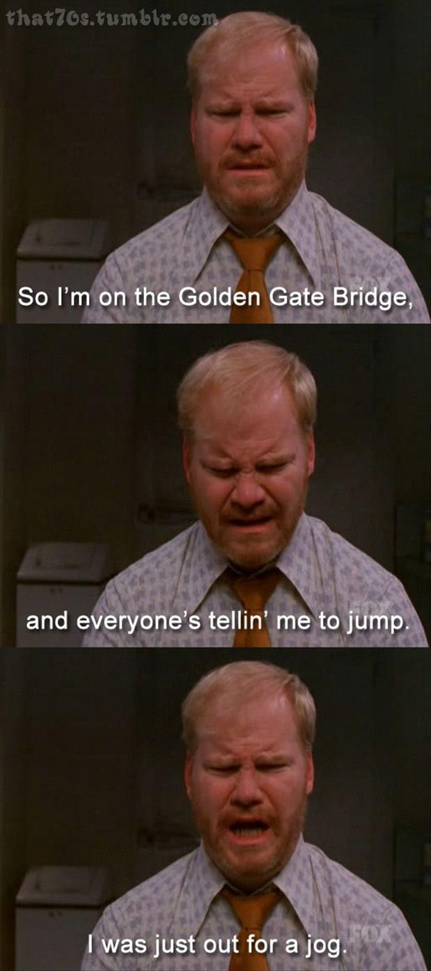 jumper on the golden gate bridge, funny quotes