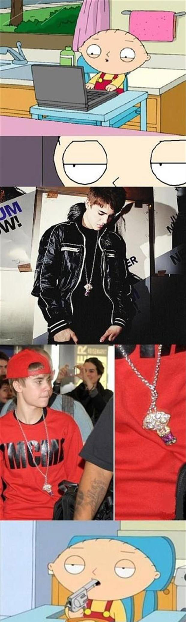 justin bieber, funny necklace