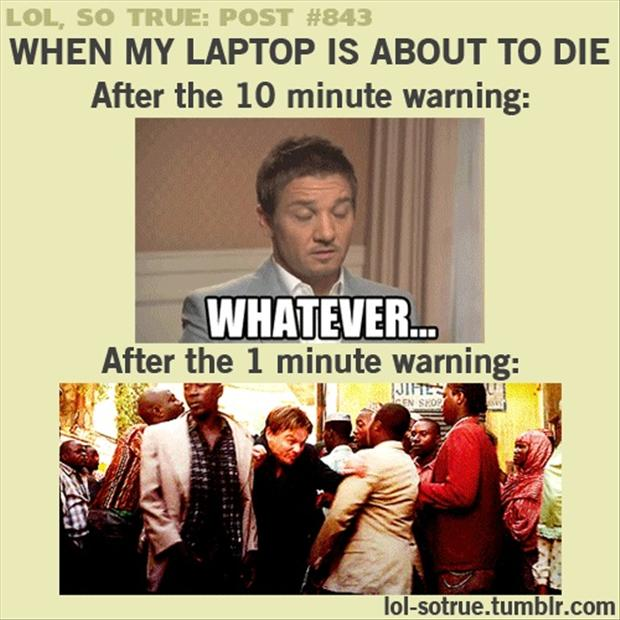 laptop is about to die, low battery, funny pictures