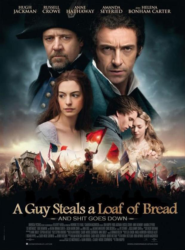 les miserable, funny movie posters