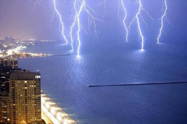 lightning, perfectly timed photos