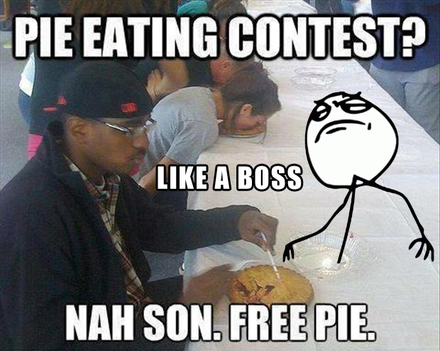 like a boss, pie eating contest