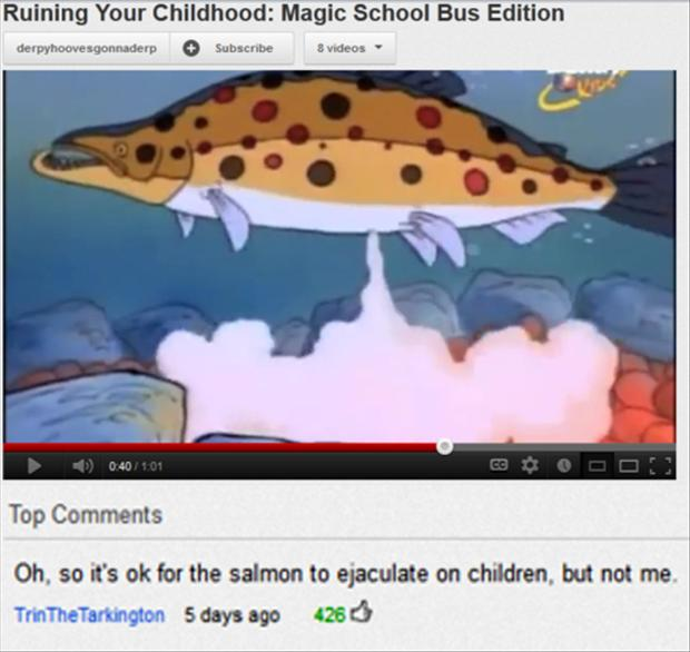 magic schoolbus, funny youtube comments