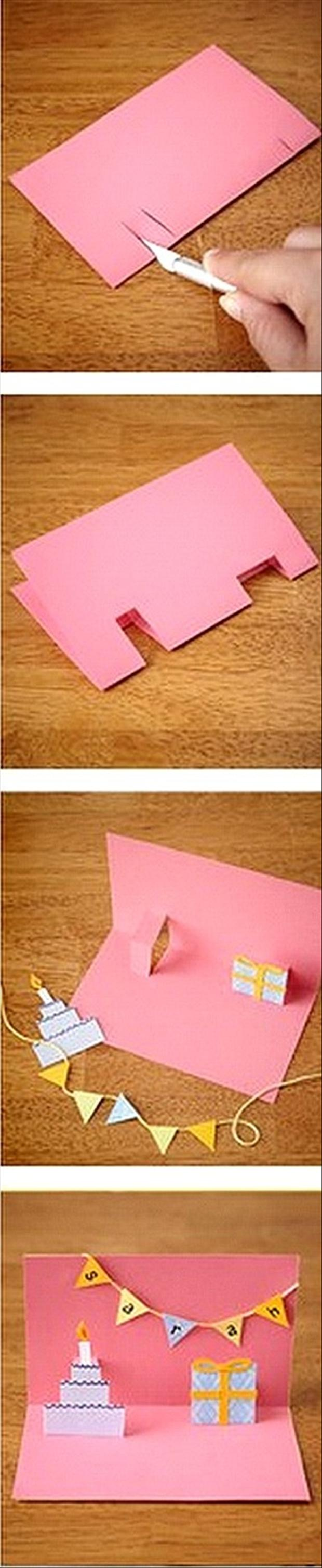 make a pop out birthday card, fun crafts