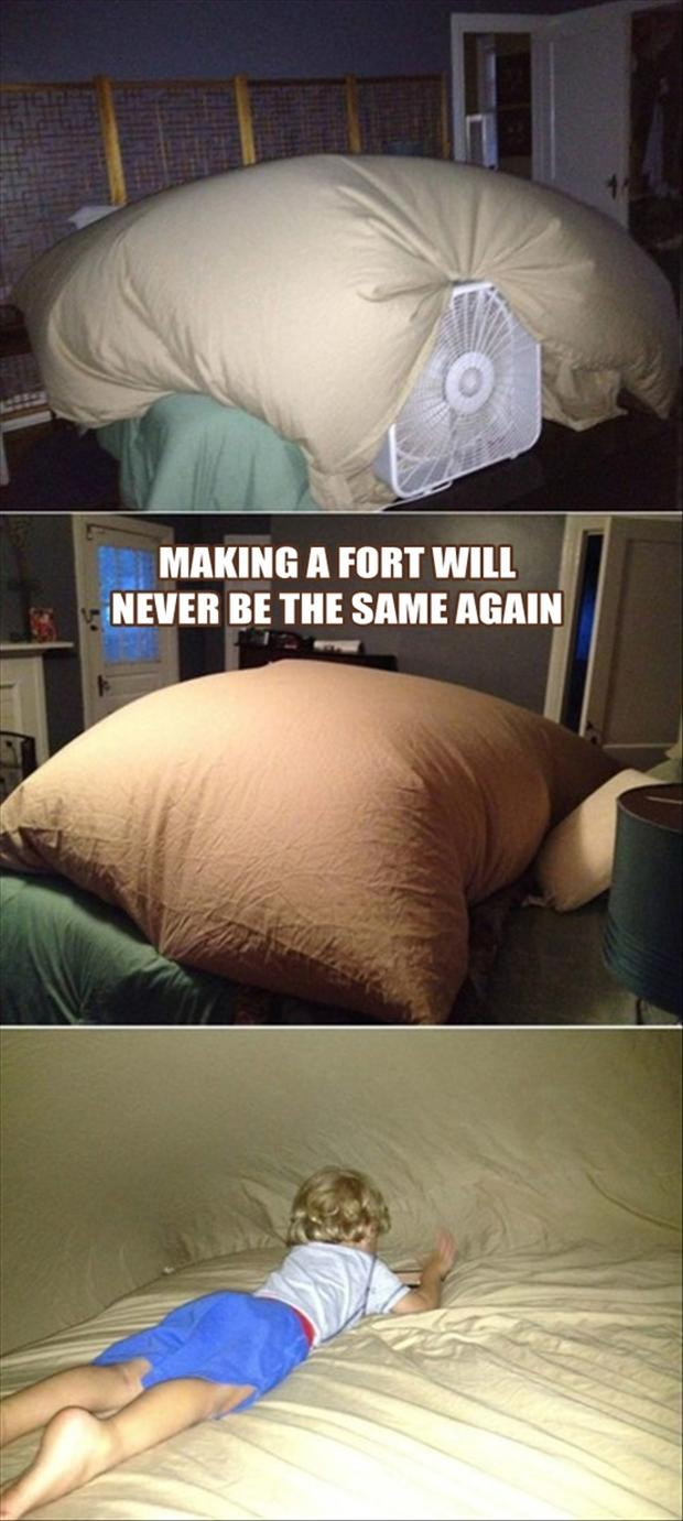 making a fort, genius ideas