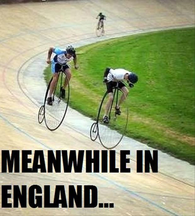 meanwhile in England, bike race