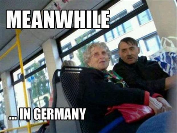 meanwhile in germany, couple riding a bus