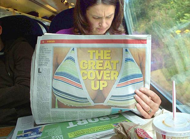 newspaper headlines, perfectly timed photos
