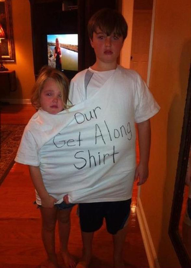 parenting done right, get along tshirt