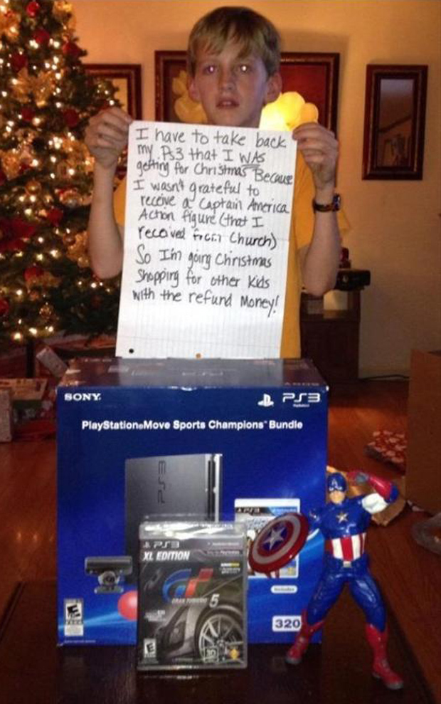 parenting done right, return christmas gifts
