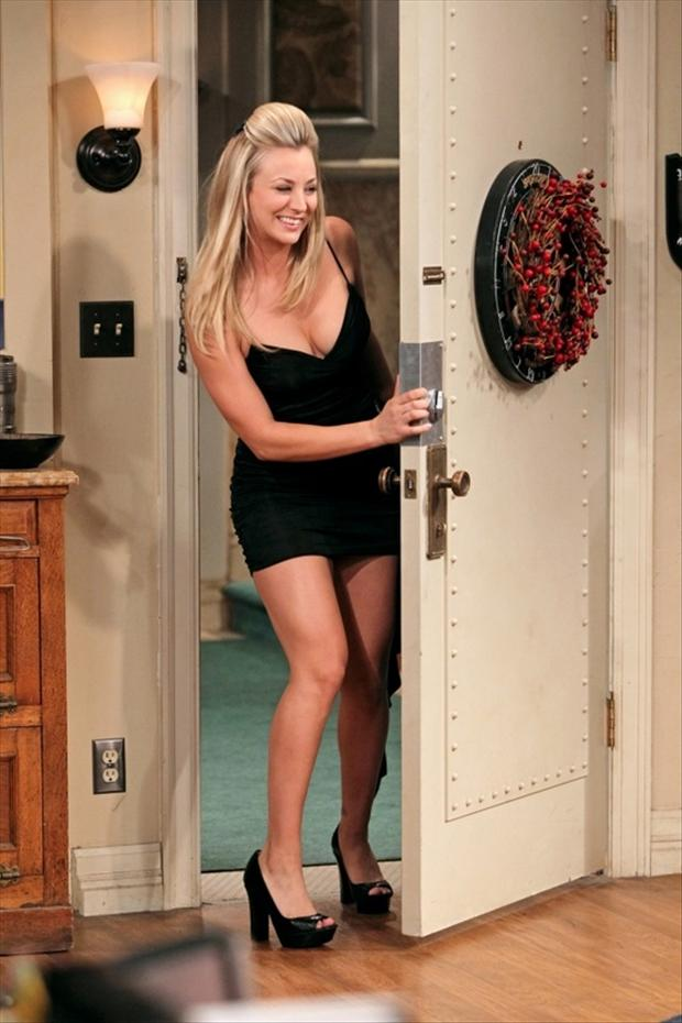 penny looking sexy in black dress