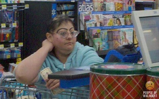 people of wal mart, eye brows
