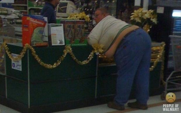 people of wal mart, fat guy