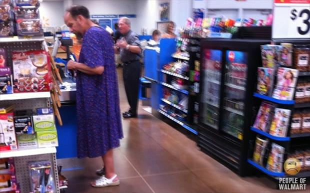 people of wal mart, man in dress