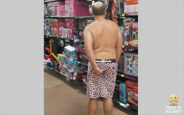 people of wal mart, man scratching his butt