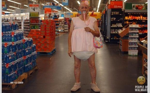 people of wal mart, old man in diapers