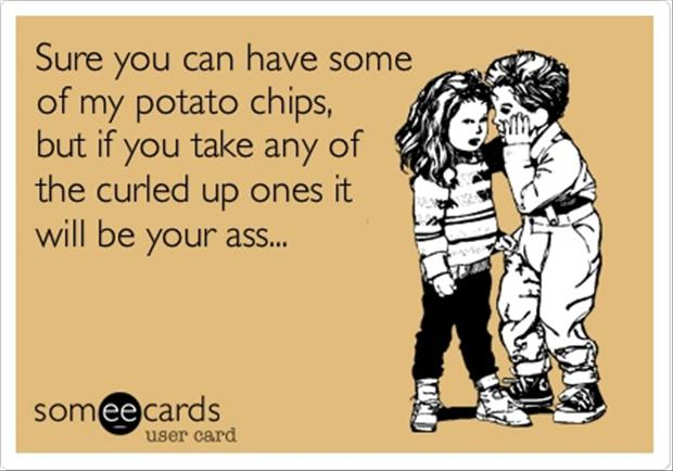 potato chips, funny quotes