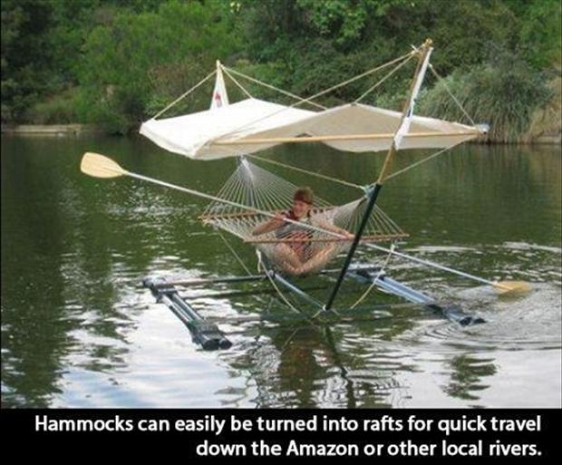 rafts and hammocks