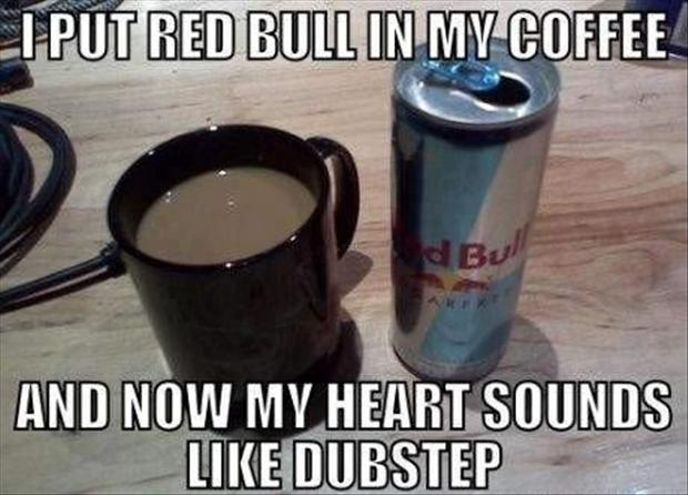 red bull and coffee
