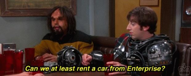 rent a car from enterprise, funny big bang theory pictures