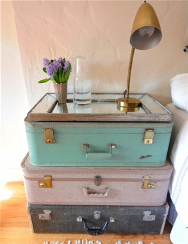 reuse old suitcases