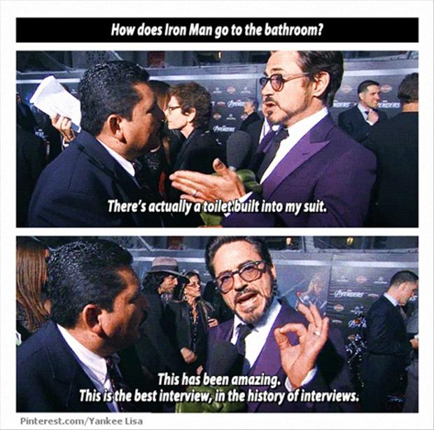 robert downey jr, funny interviews