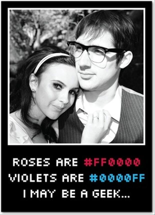 roses are red, violets are blue, geek valentines day pictures