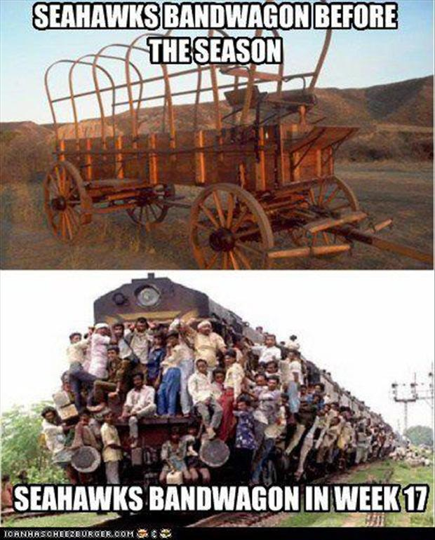 seattle seahawks band wagon funny pictures dump a day