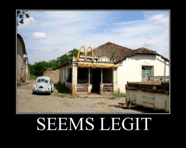 seems legit, McDonalds